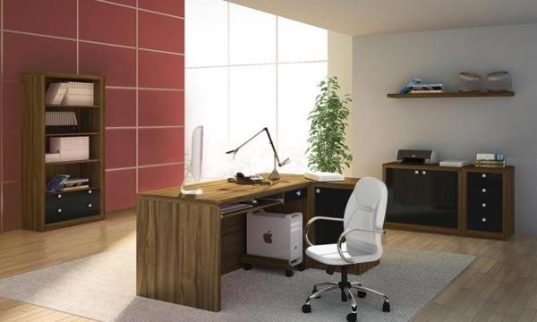 Conjunto Home Office Terracota / preto